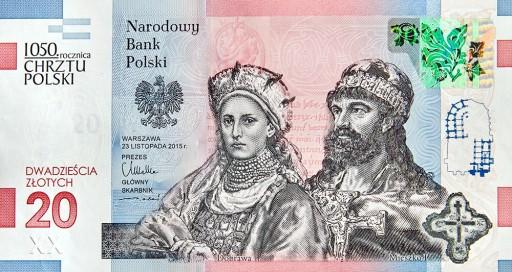 Banknot 1050 Rocznica Chrztu Polski Chrzest Polski 8856388673 Allegro Pl