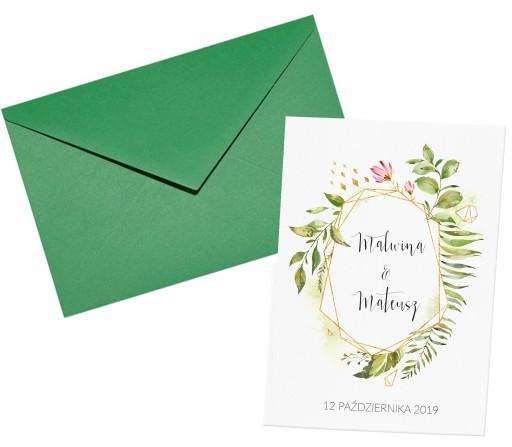 Zaproszenia ślubne Botaniczne Z41 Express 48 7556155048 Allegropl