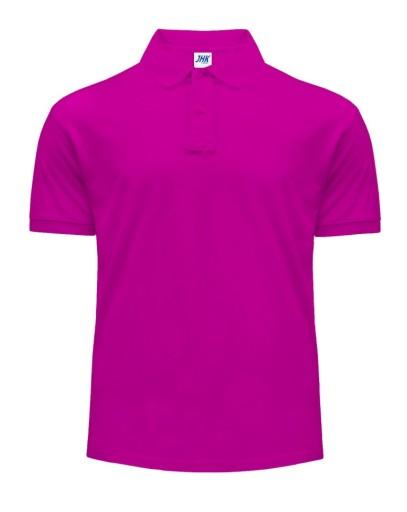 Koszulka Polo męska JHK 210g FUCSIA r L 9948054669 Odzież Męska Koszulki polo XC PTPKXC-5