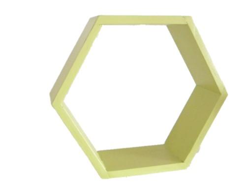 Drewniana Półka Plaster Miodu Hexagon Zielona