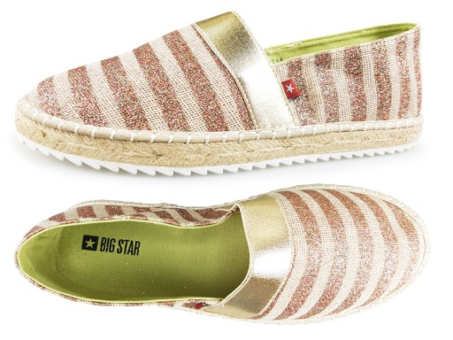 fa158eb8ad168 Espadryle BIG STAR złote damskie buty AA274189 36 7227759807 - Allegro.pl - Więcej  niż aukcje.