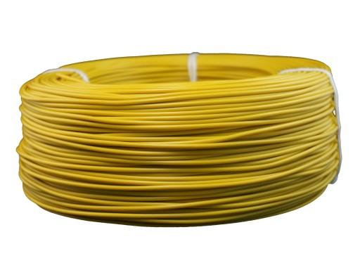 Przewód linka kabel LGY 1 x 1,0mm2 żółty 100mb