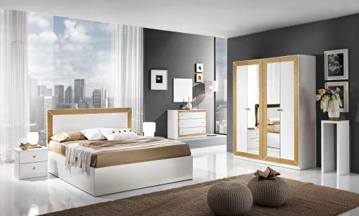 Biała Sypialnia Florenca Z Szafą 6 Drzwiową
