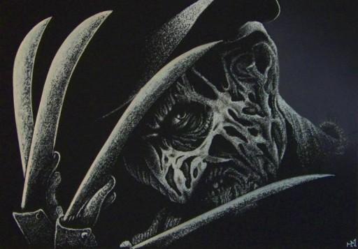 Ręcznie rzeźbiony Freddy Krueger Obraz Grawerka