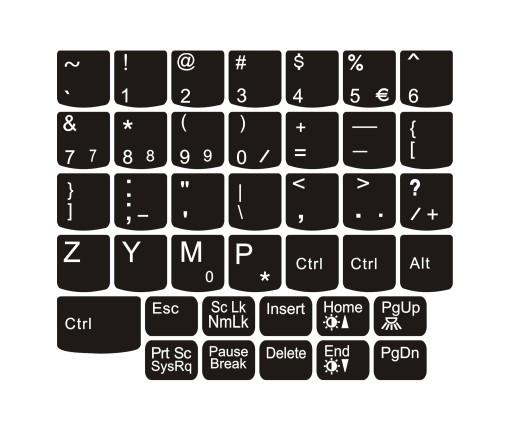 Naklejki na klawiaturę dedykowane LENOVO T420 itp.