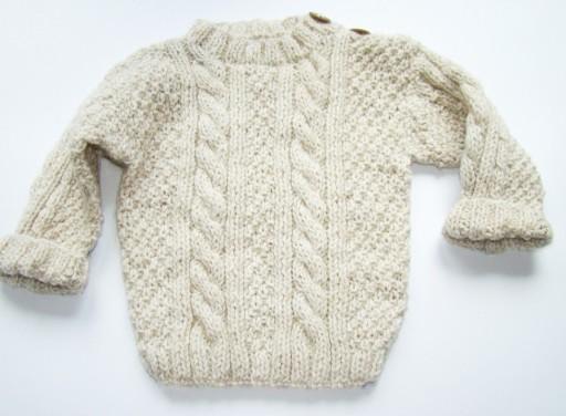 Sweterek Dla Niemowlaka Recznie Robiony Na Drutach 8970946123 Allegro Pl