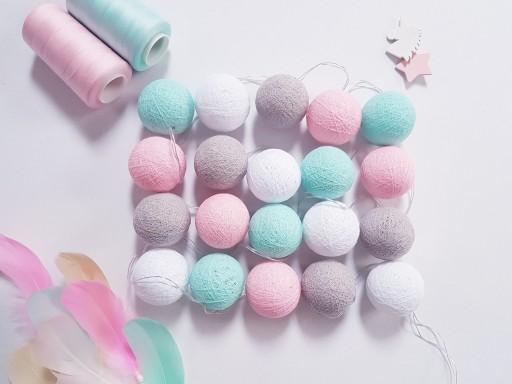 Oryginalne Cotton Balls 20 Kul Mietowo Rozowe 9983197516 Allegro Pl