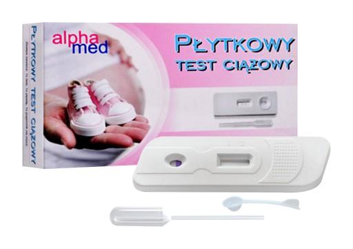Alphamed Plytkowy Test Ciazowy Jednostopniowy 99 8416041305 Allegro Pl