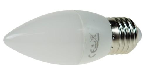 ŻARÓWKA E27 LED SMD 7W ZIMNA 6500K 580lm