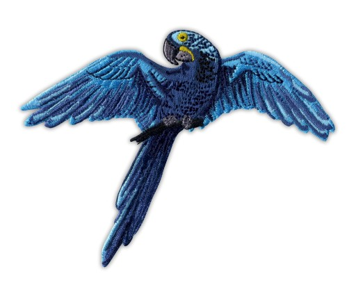 Naszywka Modroara hiacyntowa - Papuga, ptak HAFT