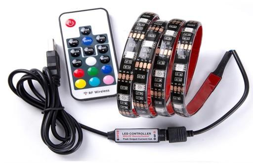 TAŚMA LED RGB USB Z PILOTEM 4M PODŚWIETLENIE TV 5V