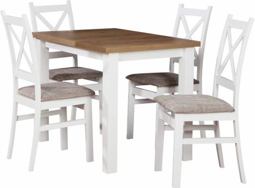 Zestaw Stół Z Krzesłami Biały Kuchenny Komplet Z40