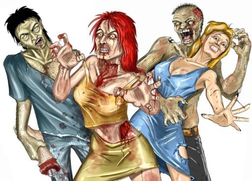 Tarcze Polowanie na Zombie - Zombie Hunter - 12szt