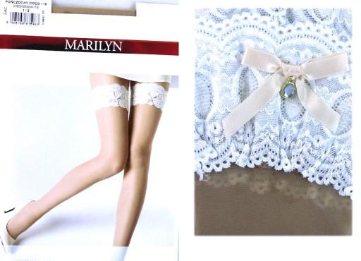 e11bf27589613e Marilyn COCO i16 R3/4 pończochy ślub visone/white 7076681272 ...
