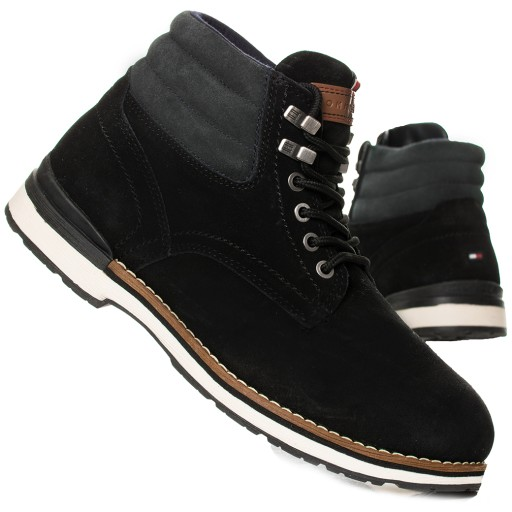 Buty Tommy Hilfiger Outdoor Boot Suede 01748 Black