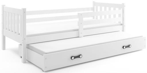 łóżko Pojedyncze Piętrowe Carino 190x80 Dla Dzieci