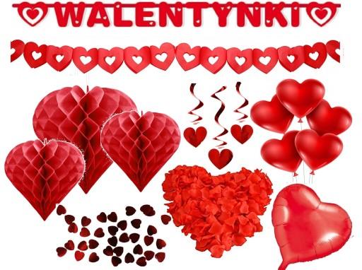 Dekoracje Walentynkowe Ozdoby Na Walentynki Zestaw 7800327308 Allegro Pl