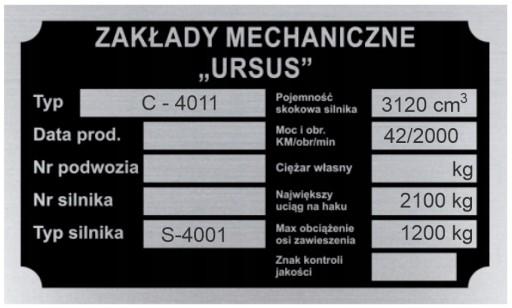 ТАБЛИЦА ИМЯ ТАБЛИЦЫ URSUS C 4011 C4011