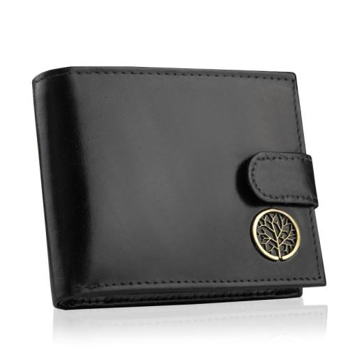 BETLEWSKI Skórzany portfel męski mały skóra RFID