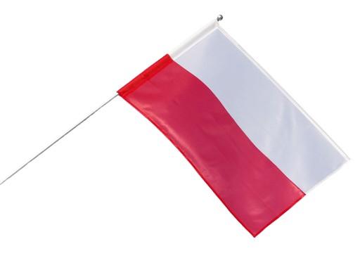 Zestaw DOBRA FLAGA z flagą polską - 70x112 cm