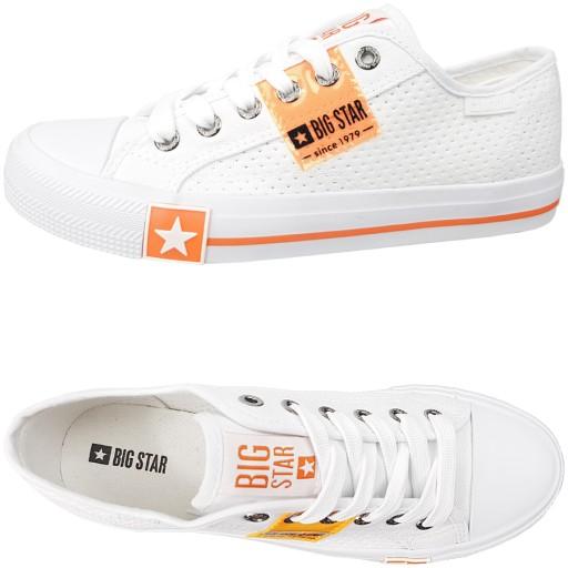 Trampki Big Star damskie białe sneakersy FF274035