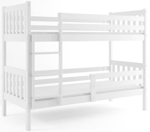 Łóżko piętrowe dla dzieci CARINO + materac 200x90