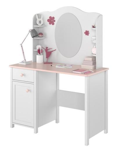 Toaletka Dla Dziewczynki Nastolatki Bialy Roz 7955241769 Allegro Pl