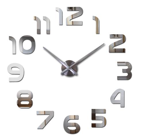 Srebrny Zegar 3d Z Cyframi Przyklejany Naklejany 9608976091 Allegro Pl
