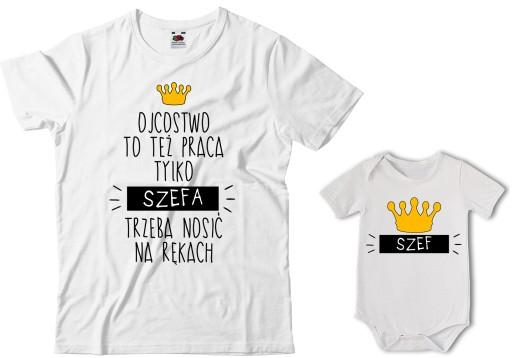 Zestaw Meska Koszulka Dla Taty I Body Dla Syna 7082583568 Allegro Pl