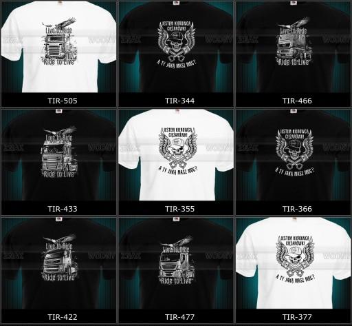 koszulka tir volvo scania daf man mercedes RÓŻNE 9106211764 Odzież Męska T-shirty PS NPGCPS-4