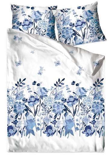 Pościel 100% bawełniana 200x220 Bielbaw Flo Błękit