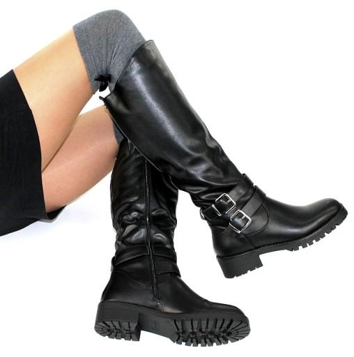 buty damskie na zime czarne