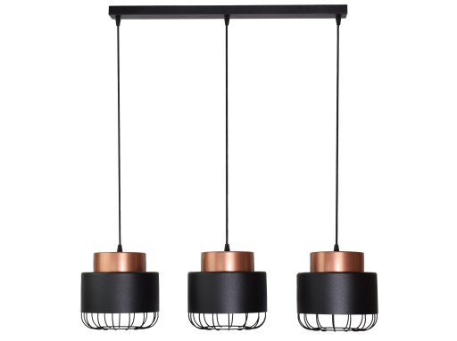 Lampa Wisząca Zwis Loft Industria 200 3bl
