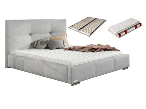 łóżko 160x200 Lily łoże Małżeńskie Stelaż Materac