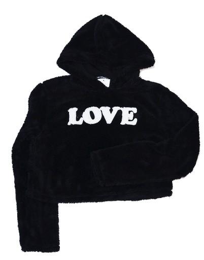 NOWY TERRANOVA sweter bluza LOVE czarny S