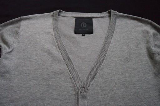 JACK JONES PREMIUM sweter sweterek szary logo____L 10763465884 Odzież Męska Swetry ME NGYPME-6