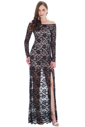 Sukienka koronkowa na wesele studniówkę A189 36