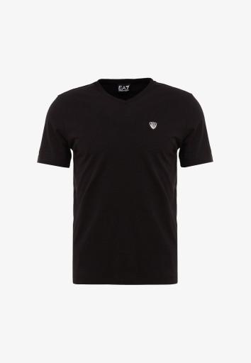 EA7 ARMANI T-SHIRT ORYGINAŁ CZARNY S 10719843236 Odzież Męska T-shirty ZA HTFXZA-2
