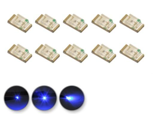 Dioda LED niebieska SMD 1206 10szt