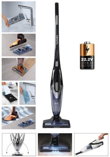 odkurzacz bezprzewodowy myjący z dodatkową baterią