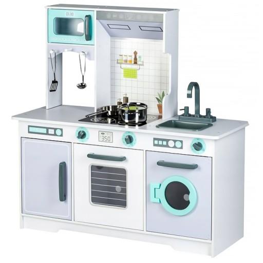 Duza Drewniana Kuchnia Dla Dzieci Z Akcesoriami 7885638109 Allegro Pl