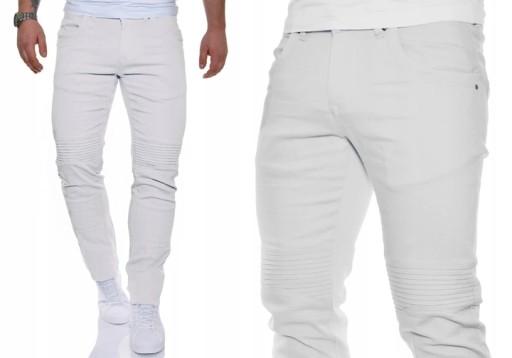 Spodnie Męskie Mondo Exclusive Lato Białe Casual 8247538487 Odzież Męska Spodnie KQ WXOSKQ-6