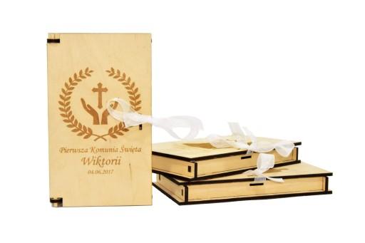 142f65dc8e Pudełko koperta na kasę pieniądze ślub komunia HIT 6868380167 ...