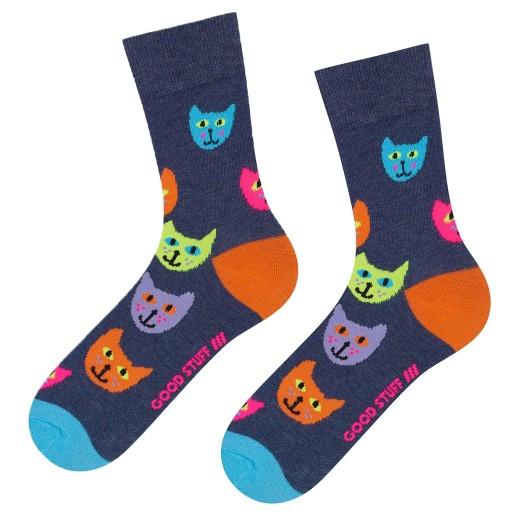 52c6b3311da817 Skarpety damskie Soxo śmieszne kolorowe koty 35/40 8194611575 ...