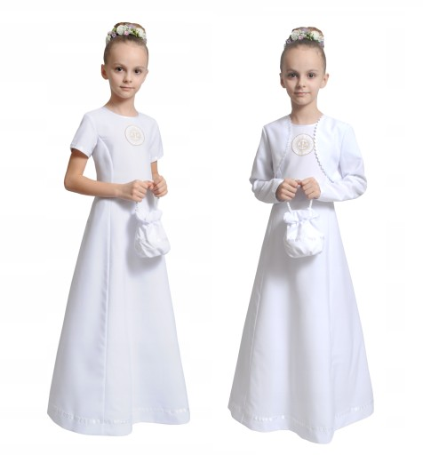 Sukienka Komunijna Na Miare Komunia Alba Torebka 7801764480 Allegro Pl