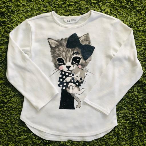 H&M cienki sweter sweterek 122 128 bluza