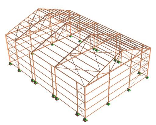 Projekt Stalowej Hali Budynku Gospodarczego 7635024817 Allegro Pl