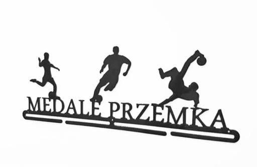 Tylko na zewnątrz Wieszak na medale PIŁKA NOŻNA Z IMIENIEM 7567473304 - Allegro.pl DW47