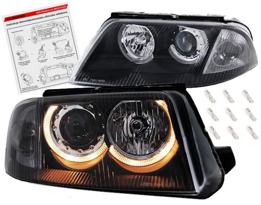Vw Passat B5 Fl 3bg Lampy Reflektory Black Ringi Ilawa Allegro Pl