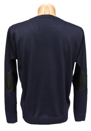 03 031 SWETER W SEREK SZPIC GRANATOWY ROZ. XL 6266811216 Odzież Męska Swetry HB ZMOTHB-2